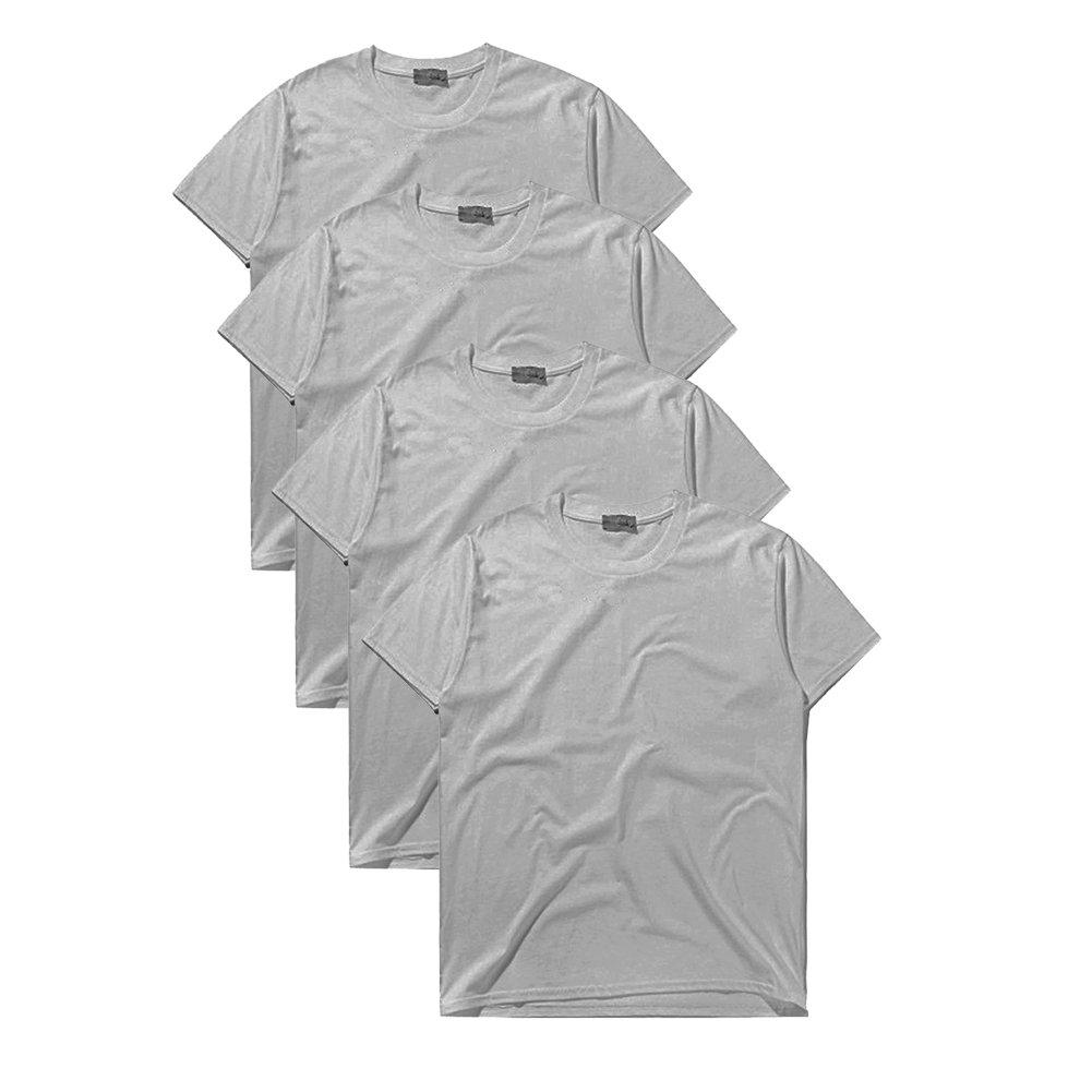 [Macoking] メンズ 無地 吸汗速乾 Tシャツ インナーシャツ まとめ 綿100% 厚手 6.2オンス 半袖 クルーネック 丸首 カジュアル オシャレ シンプル ファッション プレゼント 四枚セットor三枚セット 3色展開