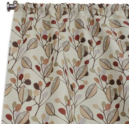 Brite Ideas Living Laurel Bloodstone Rod Pocket Curtain Panel