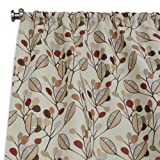 Brite Ideas Living Laurel Bloodstone Rod Pocket Curtain Panel, 54 by 108
