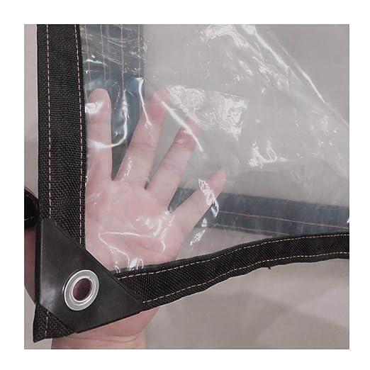 41 Taglie Color : Clear, Size : 1X1M GDMING Trasparente Telone Telo Copertura Teloni Occhiellato Pesante Impermeabile Resistente agli Agenti Atmosferici Inverno Antigelo PVC Film Morbido Ripstop