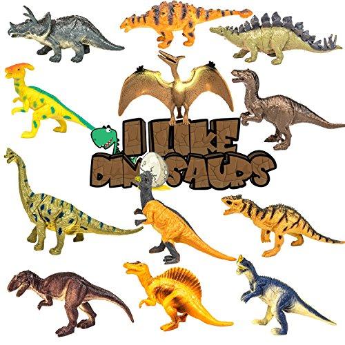 I Like Dinosaurs 12 Pack of Realistic Large Sized 6