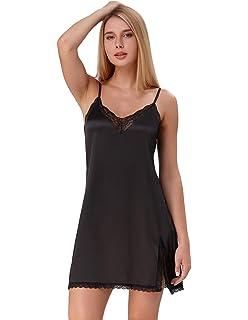 798a03768 Zexxxy Mujer Camisón Ropa Interior de Dormir Cuello V Encaje Pijama