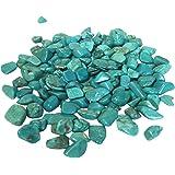 Hozoyo 5 Ounce Turquoise Tumbled Stones Natural Gemstones Crystals Healing Rocks