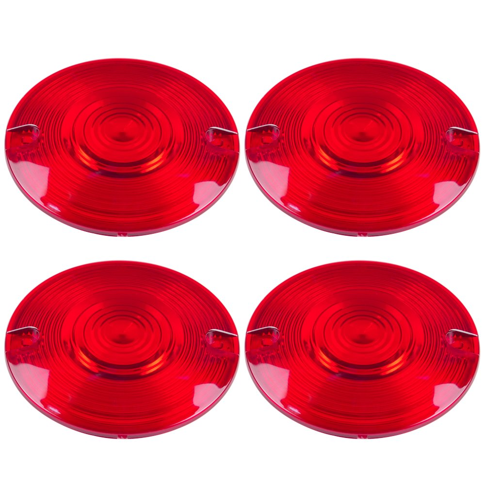 Amazicha 4 PCS Red Light Lens Covers for Harley 1989-2018 with FLAT Style Front Rear Turn Signals live4fun WWQBHWKLLZQ143791SXDMSV