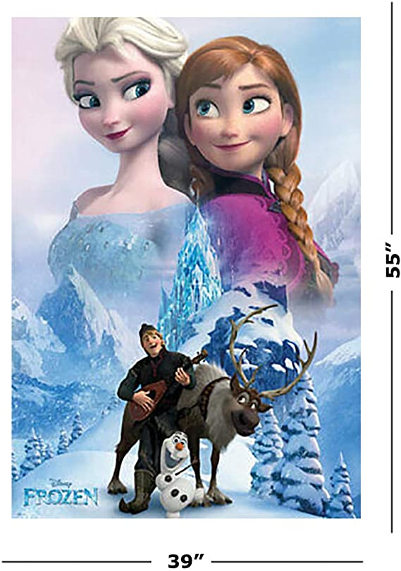 FROZEN ELSA /& ANNA BUILD A SNOWMAN POSTER PRINT VINYL WALL STICKER VARIOUS SIZES
