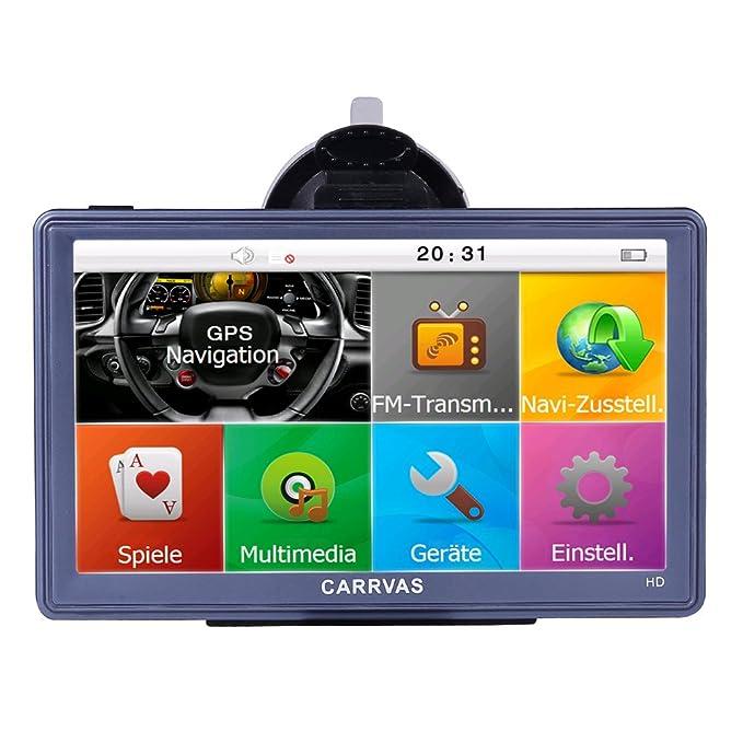 GPS f/ür Kfz CARRVAS 7 Zoll Sat NAV HD Touchscreen Navigationsger/ät GPS f/ür LKW Kostenlose Aktualisierung