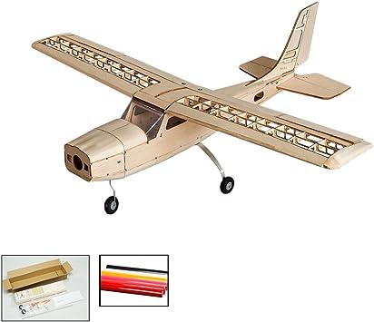 Avión de control remoto, DW Hobby Cessna 150 escala, modelo de avión, RC Flying modelo Kits de aviones para construir, 96 mm Wingspan corte láser Balsawood RC Avión para entrenamiento de adultos: