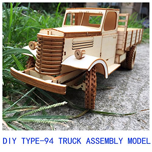 CZYY Brand DIY Suite Ugears Is Mechanical 3D Wooden Brainteaser For Kids Puzzle Teens And Adults Advanced Edition (Type-94 Truck)