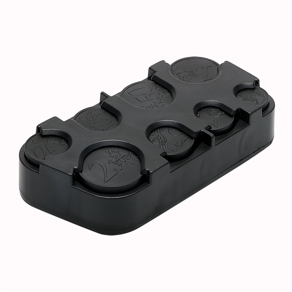 NOPNOG Car Organizer Container Holder Euro Coin Storage Box Plastic Black