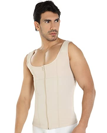 Fajate Male Abdominal Control and Back Support Shirt 7005 (M, Black)