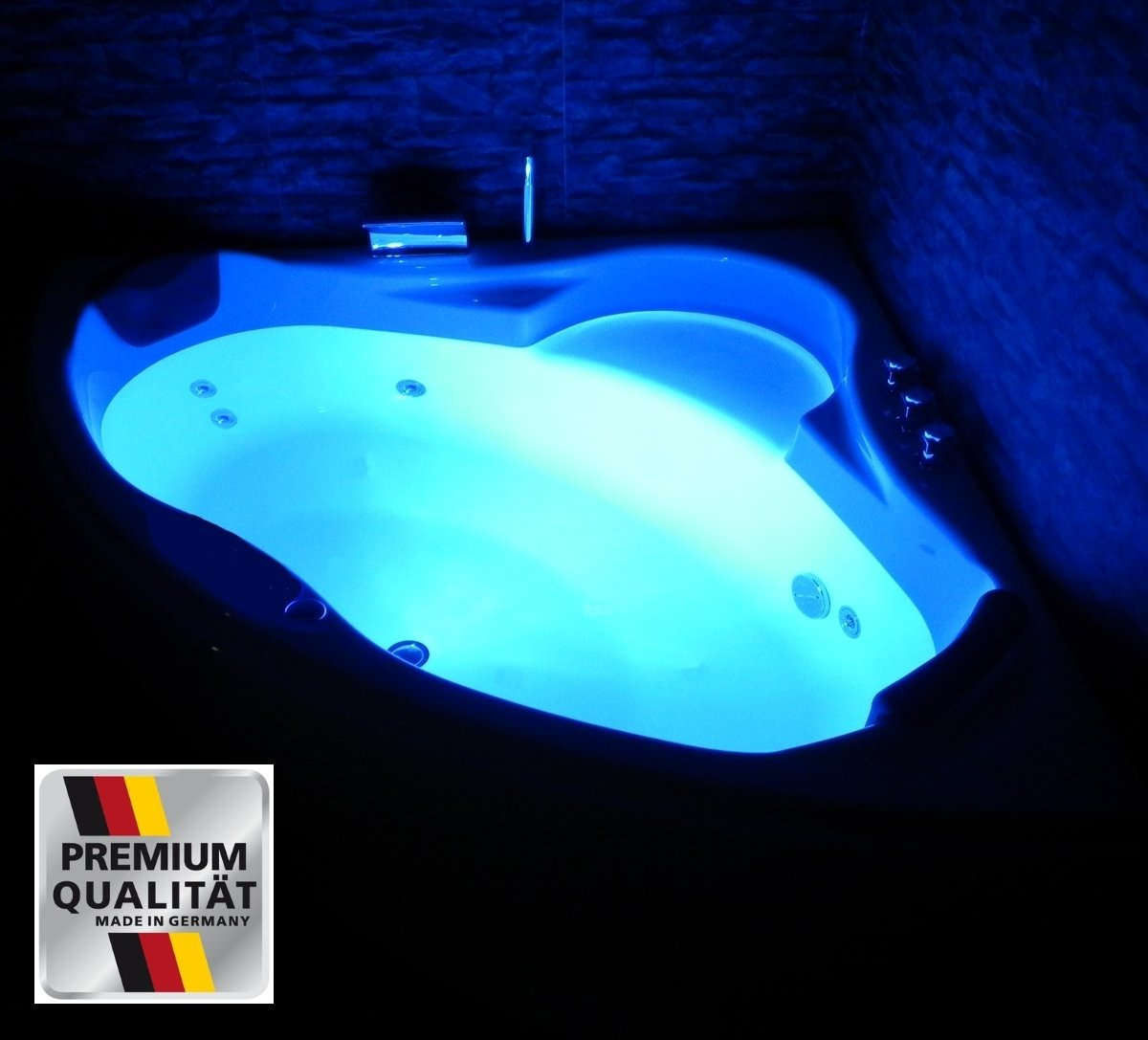 Whirlpool badewanne  Whirlpool Badewanne Paris MADE IN GERMANY mit 8 Massage Düsen + ...