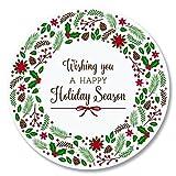 Christmas Wreath Envelope Seals - Set of 144 Self-Adhesive, Flat-Sheet, 1-1/2'' Sticker Seals