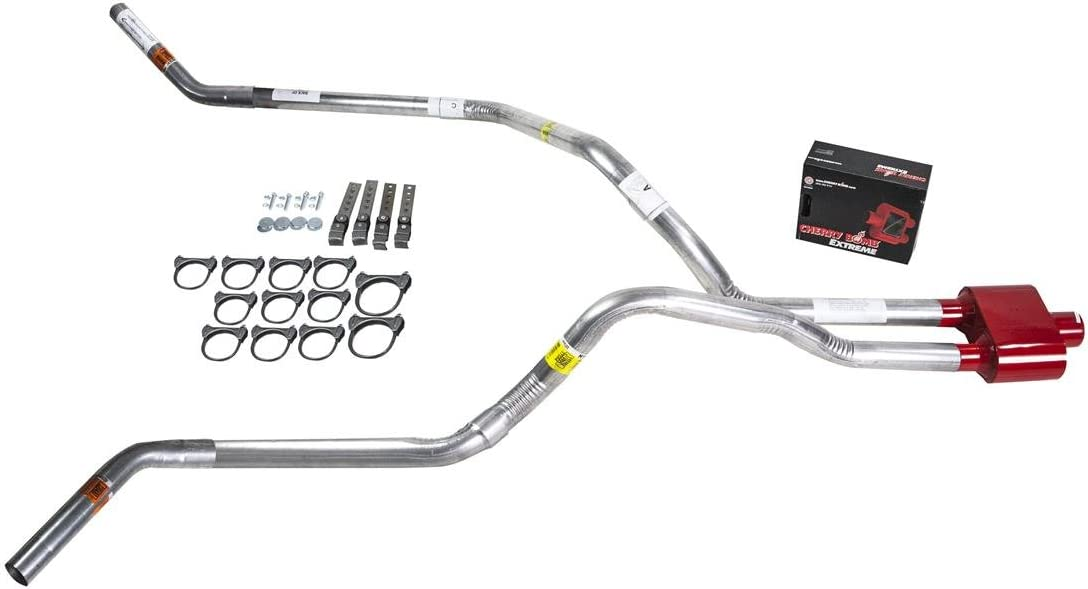 DIY dual exhaust system 2.25 pipe Cherry Bomb Extreme Corner exit Truck Exhaust Kits