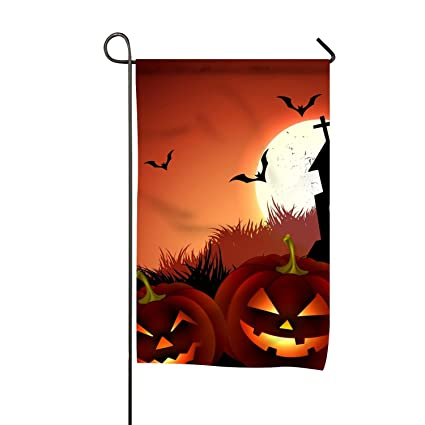 Dag Halloween.Amazon Com Creepy Halloween Bird Yard House Garden Flag To