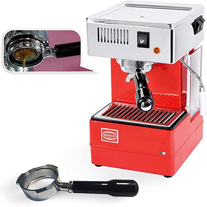 Quick Mill 0820 Rojo Cafetera expreso, Made in Italy. portafiltros Cafetera expreso Special Special con portafiltro sin suelo y STD Portafiltro: Amazon.es: Hogar