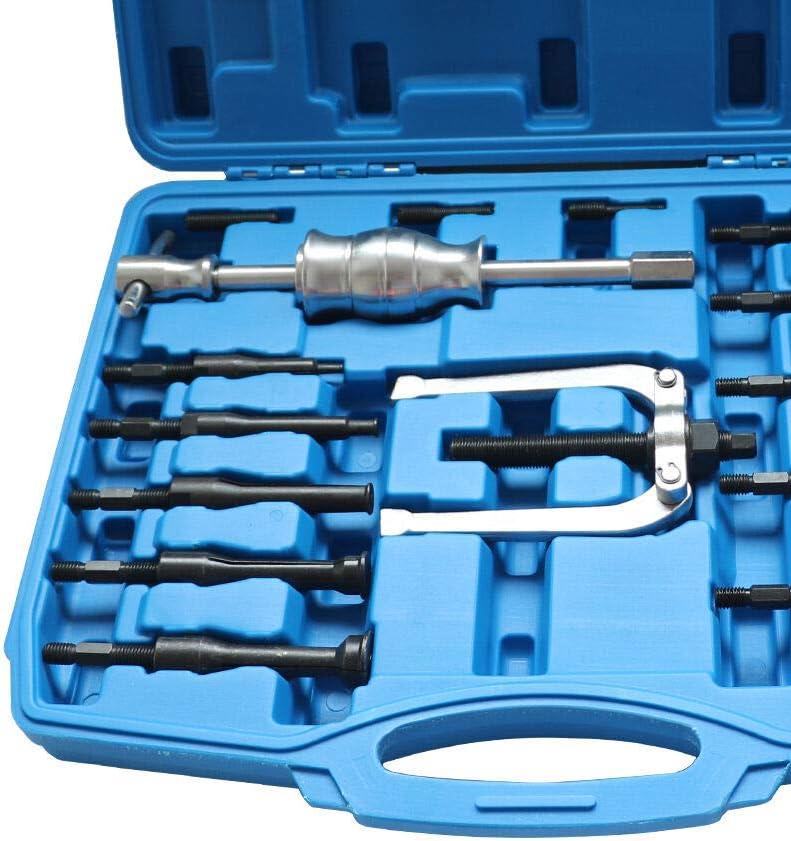 OUKANING Set di estrattori per Cuscinetti 16pcs Estrattore Interno Set di Strumenti per estrattore Interno Foro cieco