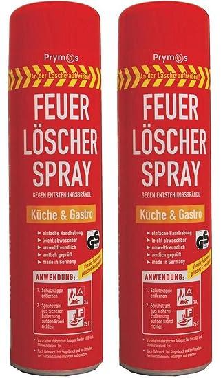 2er set prymos küche & gastro 580 ml feuerlöschspray feuerlöscher ... - Feuerlöscher Für Küche