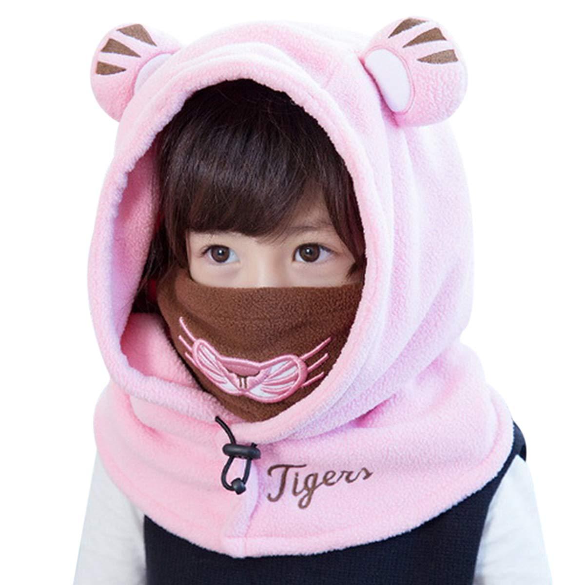 DORRISO Niños Bebe Gorra Otoño Invierno Cómodo Calentar Pequeña Pequeño Tigre Lindo Gorras Sombrero de Niño Apto para 1-12 años Niños bebé