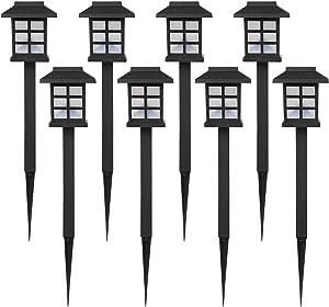 Nekepy Solar Lights Outdoor, Solar Powered Pathway Waterproof Landscape Light for Patio Walkway Driveway Garden Yard, 8 Pack