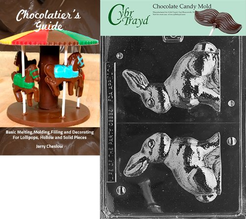 """Cybrtrayd E100 """"3D 5-Inch Bunny"""" Easter Chocolate Candy Mold"""