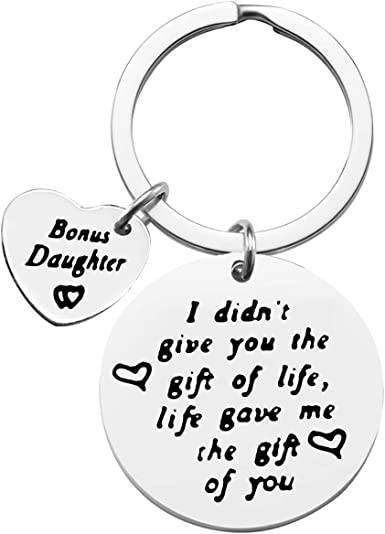 But Life Gave Me The Gift Of You Bonus Daughter Christmas Gift Idea from StepMom 2020 Ceramic Ornament Gift Box 3 Flat Circle with Ribbon To My Stepdaughter I Didnt Give You The Gift Of Life