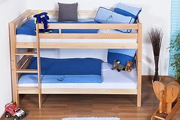 Etagenbett Kinder Vollholz : Kinder etagenbett buche massivholz 90x200 cm: amazon.de: baumarkt