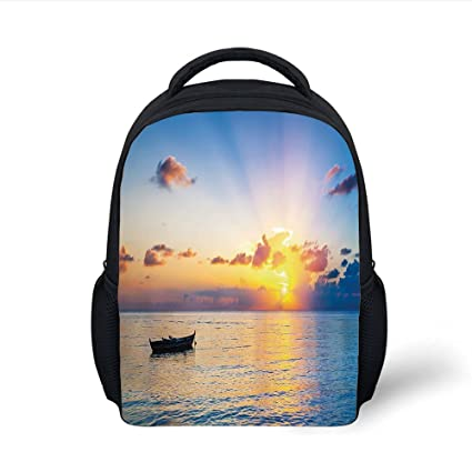 eddf1bb58c8f Amazon.com: iPrint Kids School Backpack Landscape,Sun Rising over ...