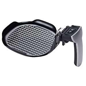 GoWISE USA Air Fryer Grill Pan Insert, Compatible with GoWISE 3.7-Quart Models: GW22638, GW22639, GW22640, GW22611