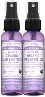 product image for Dr. Bronner's - Organic Hand Sanitizer Spray (Lavender, 2 ounce, 2-Pack) - Simple and Effective Formula, Kills Germs and Bacteria, No Harsh Chemicals, Moisturizes and Cleans Hands