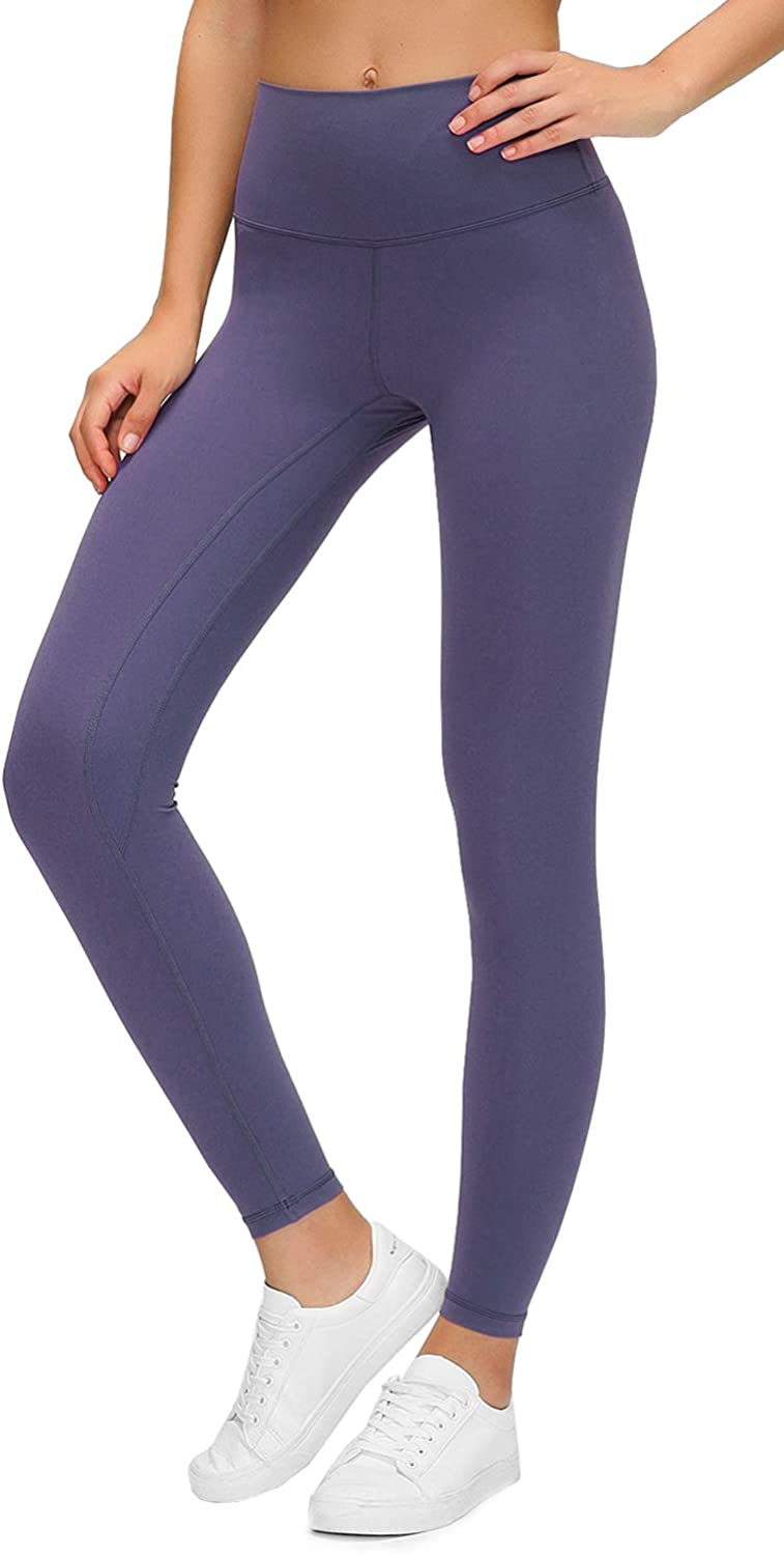 Lavento Women's Buttery Soft High Waisted Yoga Pants 7/8 Length Workout Leggings