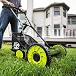 Sun Joe MJ502M Manual Reel Mower w/Grass Catcher | 20 inch 12 ✅ REEL MOWER: Powered with a push, this manual mower's 5 sharpened steel blades cut a crisp 20-inch path in a single pass - no gas, oil or electricity required ✅ ADJUSTABLE: 9 position manual height adjustment for cutting heights up to 2.44 in. deep ✅ RAZOREEL: 5 durable steel blades swiftly slice through grass for precise cutting