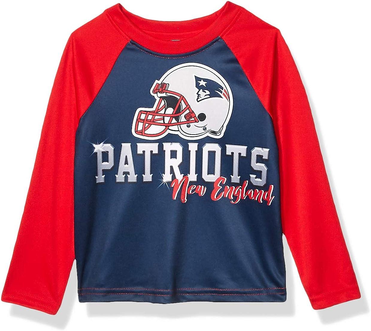 4T Team Color NFL New England Patriots Boys Long Sleeve TEAM TEE SHIRT