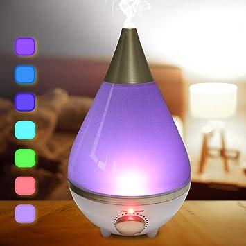 Luftbefeuchter Ultraschall Schlafzimmer 2,3L Baby Leise Humidifier  Kinderzimmer Raumluftbefeuchter Automatische Abschaltung Aroma Diffuser LED  ...