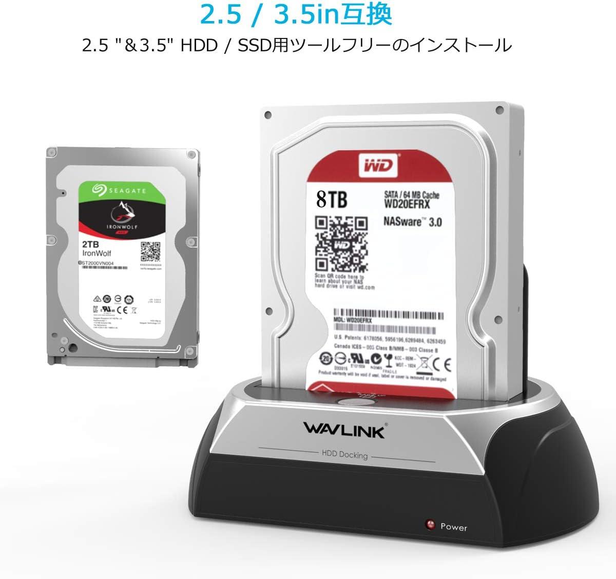 WAVLINK Estación de Acoplamiento de Disco Duro Externo USB 2.0 a ...
