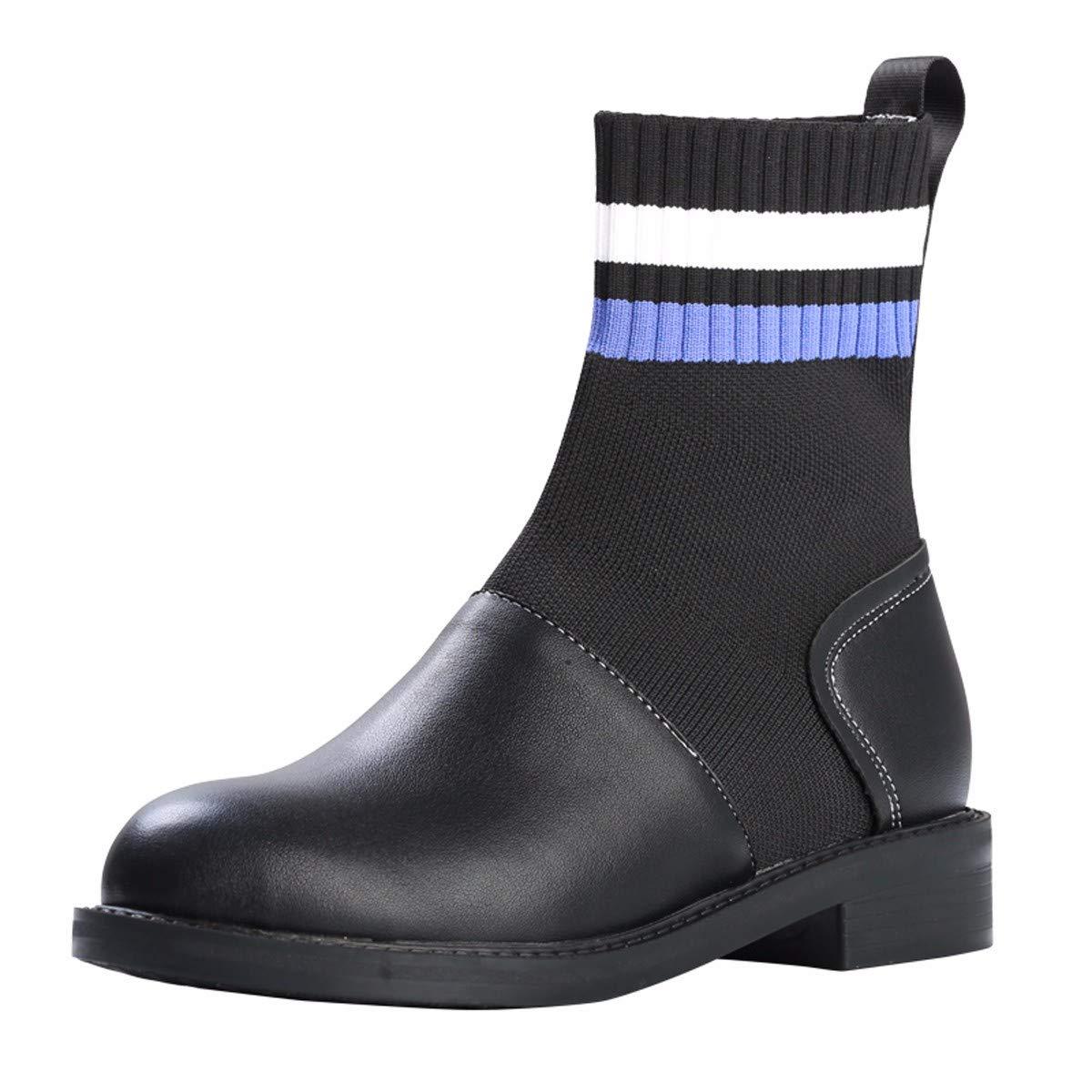 Olici Damen-Schuhe elegant für Arbeit und Freizeit 3 cm hoch für Frühling und Herbst Martin Stiefel Studenten Joker