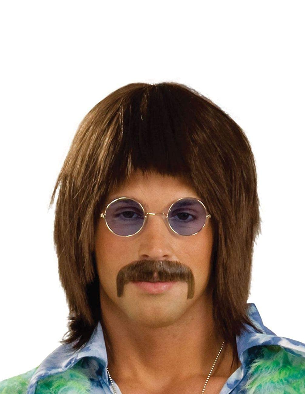 Marronee John Lennon Wig Retro Hippy Hippie Beatles 60'S Fancy Dress