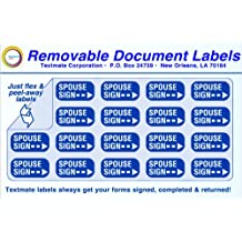 Removable Document Labels - SPOUSE SIGN
