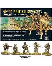 WGB-BI-01 - Juegos De Warlord - Acción De Perno - WW2 Infantería Británica De Finales De La Guerra x 25 Miniaturas De Juegos De Guerra 28mm