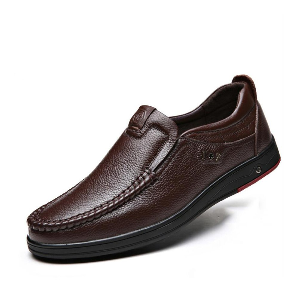 GFP Herren Lederschuhe, Formale Geschäft Arbeitsschuhe, Flache Loafers Breathable Herrenmode Schuhe, Hochzeitsschuhe