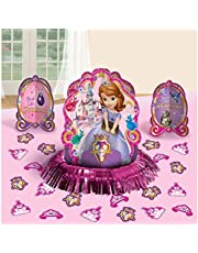 Disney Sofia The First Princess Birthday Party Table Decorating Kit Assorted Decoration (23 Pack), Multi Color, .