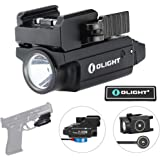 OLIGHT PL-Mini 2 Valkyrie 600 Lumens Magnetic USB Rechargeable Compact Weaponlight with Adjustable Rail, High Performance CW