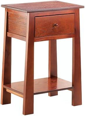 Amazon Com Narrow End Table Medium Brown 2 H X 10 Quot W X