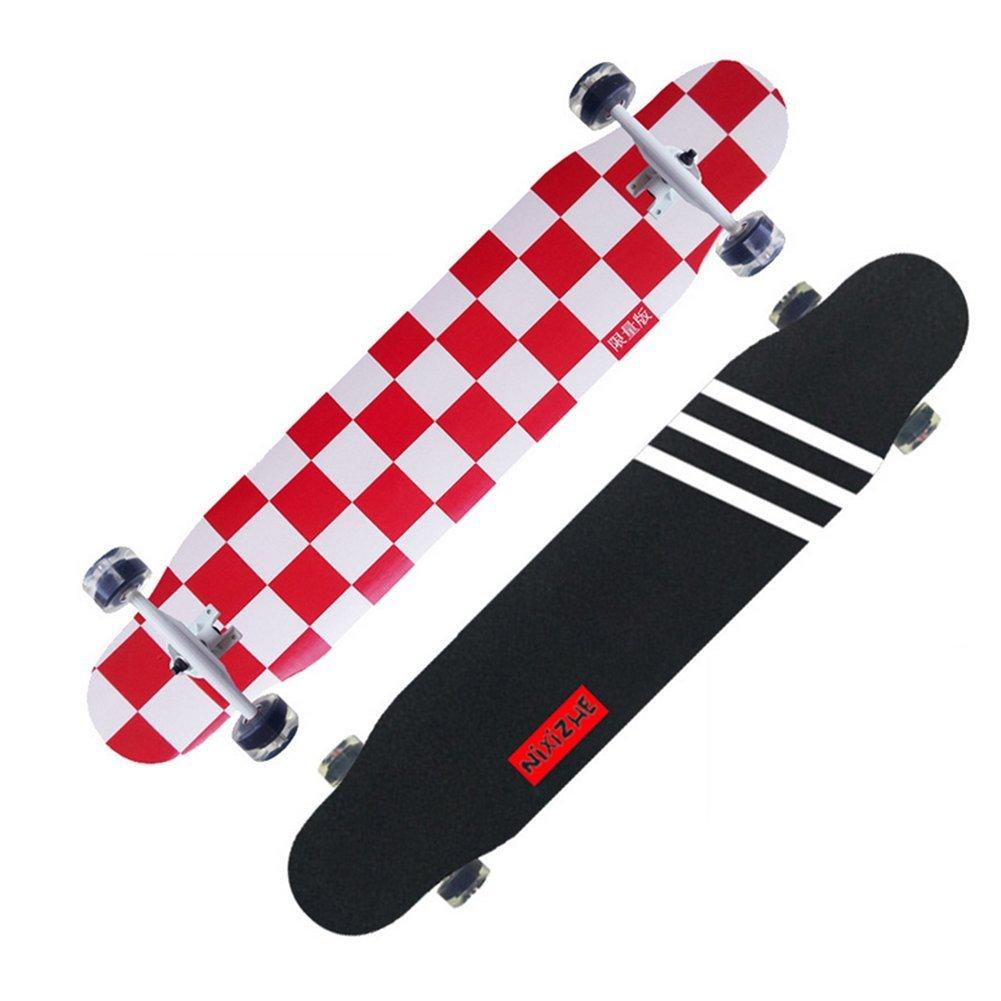 YQ Ahorn Lange Tafel Autobahn Skateboard Vier Runden Beruf Erwachsene Erwachsene Erwachsene Reise Roller Doppelter Rocker Tanzbretter B07DYR8DLF Skateboards Ausgezeichnet 7cec6d