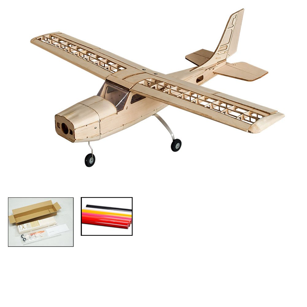 Dancing Wings Hobby Telecomando aereo, DW hobby Cessna 150 scala, RC Aeromodelli volare kit per costruire, 960 mm Wingspan laser Cut Balsawood RC aereo per adulti formazione