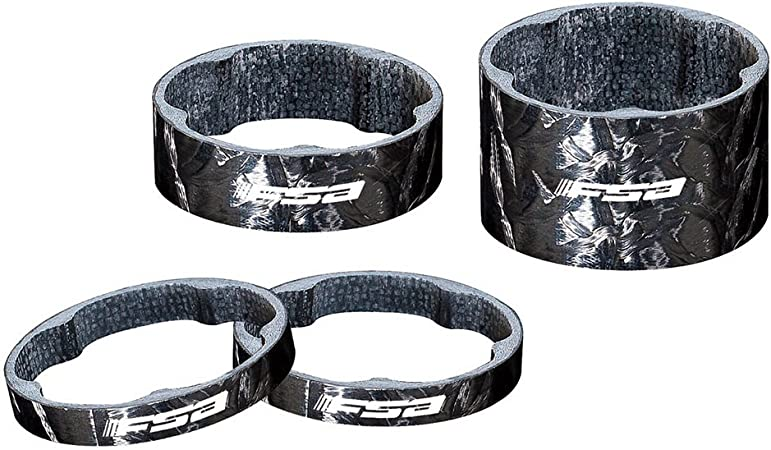 FSA Polycarbonate Headset Spacer 1-1//8 x 10mm 10-Pack Black
