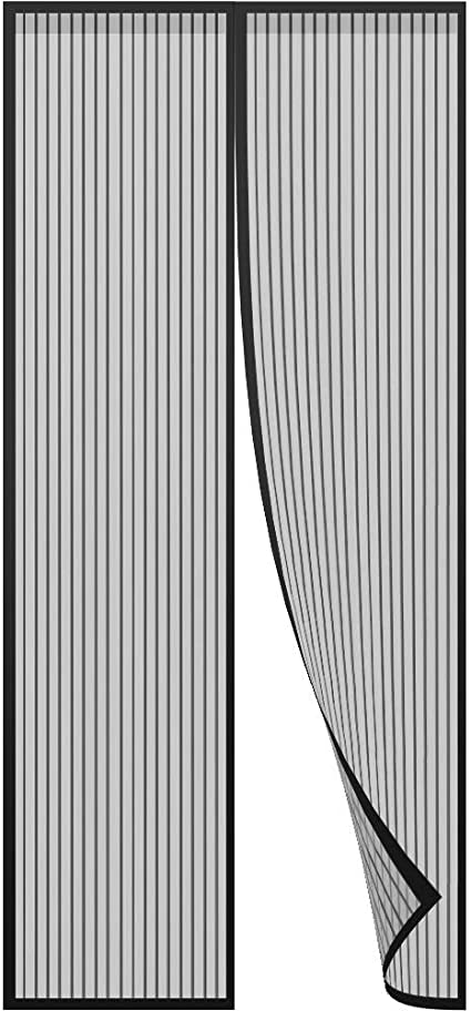 Rete Grigio Zanzariera Porta Zanzariere Porta Finestra 90x230cm Chiuso automaticamente Pieghevole Aria Fresca in /& Keep Bugs out