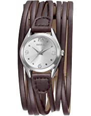 Fashion Women's Watch, Wrap Around Leather Women Watch Vintage Casual Style Ladies Wristwatch