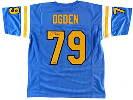 Image Unavailable. Image not available for. Color  Jonathan Ogden Signed  UCLA Blue Custom Jersey ... 091995fb9