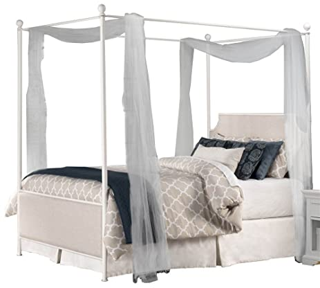 Canopy Bed in Off-White (King 83 in. L x 78 in  sc 1 st  Amazon.com : x canopy bed - memphite.com