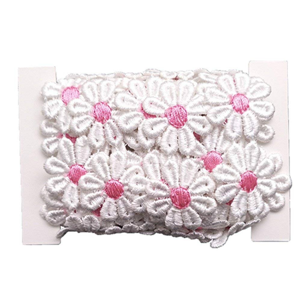 style1 YEQIN 3 Yard Daisy Flower Sun Flower Decorating Lace and Trims for Sewing and Craft Projects